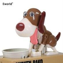Eworld Robotic Hungry Eating Dog Banco Canino Money Box Money Bank Automatic Stole Coin Piggy Bank Money Saving Box Gift For Kid hungry eating dog electric money boxes