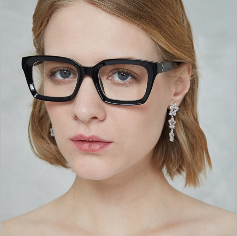 Brillen rahmen mode klare gläser rahmen frauen Quadrat computer ...