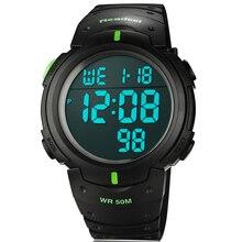 2016 de Silicona Llevó Relojes Deportivos Hombres Mujeres Visten Niños Electronic LED Reloj Digital Hombre Ladies Mañana Correr Deporte Reloj