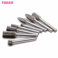 Hot 8Pcs Tungsten Carbide Burr Bit 1 4 6mm Rotary Cutter Files CNC Engraving Set