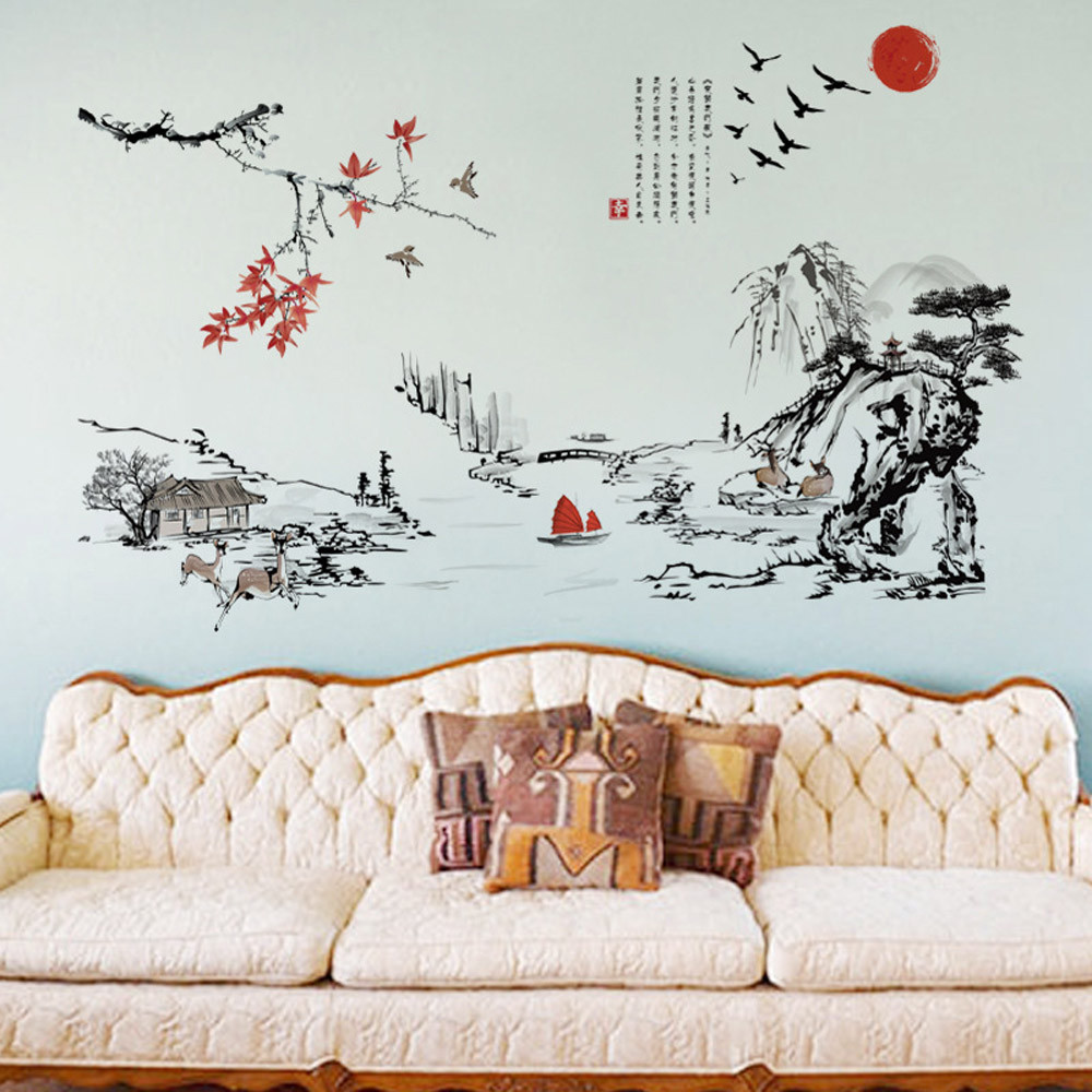 creative wall sticker flower mural home decoration accessories wall decals vinyl wall decoration vinilo paredes decoracion pared