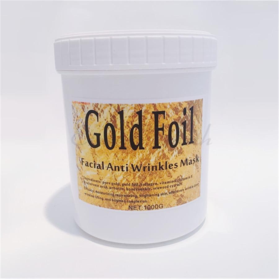 Gold Foil Face Mask Gel Treatment Anti Wrinkles Beauty Salon Equipment 1000g huangshan 1000g