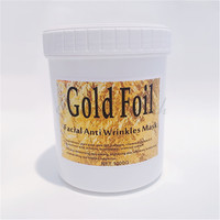 Gold Foil Face Mask Gel Treatment Anti Wrinkles Beauty Salon Equipment 1000g