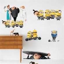 3D Cartoon Minions Wall Stickers