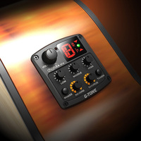 Cherub GT 5 Acoustic Guitar 3 Band EQ Preamp System Piezo Pickup Equalizer Built in Chromatic Tuner Phase Reverb Chorus Effects