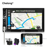 2 Din Car Radio 7 MP5 Player 1024 600 Touch Screen Mirror Android Bluetooth Multimedia USB