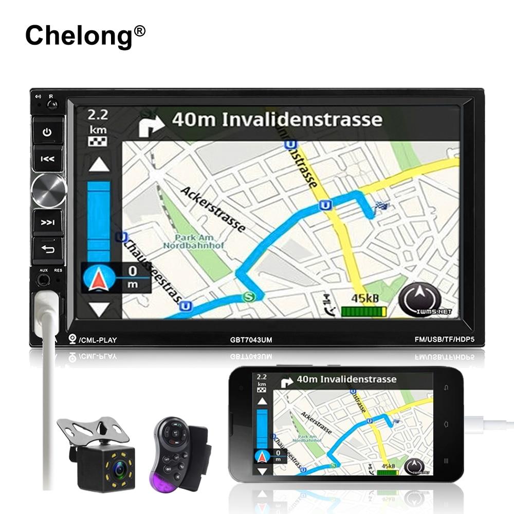 2 din voiture radio 7 MP5 Lecteur 1024*600 Tactile Écran Miroir Android Bluetooth Multimédia USB/SD 2din Autoradio Voiture De Sauvegarde Moniteur