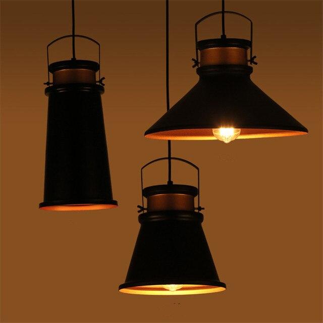 Us 80 69 25 Off Loft Rh Warehouse Pendant Lights American Country Lamps Vintage Lighting For Restaurant Bedroom Home Decoration Black In