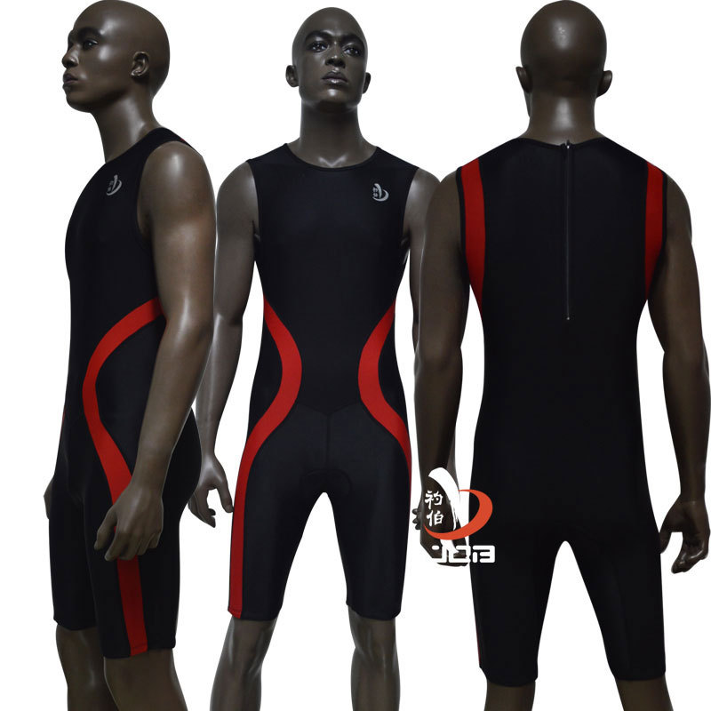 Topdan Qadın Dəmirman Triatlon Yastıqlı Tri Suit Velosiped - İdman geyimləri və aksesuarları - Fotoqrafiya 3