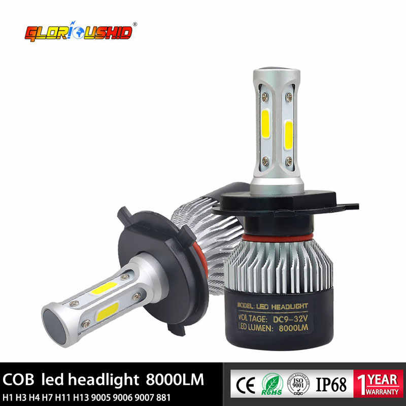 Led H1 H3 H4 H7 H11 H8 H9 Auto Car Light Bulb 72W 8000lm Led Headlight Fog lamp Automobile Headlamp 6500k white