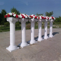 Free Shipping 2 pc/lot Fashion Wedding Props Decorative Roman Columns White Color Plastic Pillars Road Cited Party Event