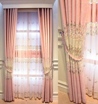 Customized shade curtain bedroom modern living room new princess wind curtain