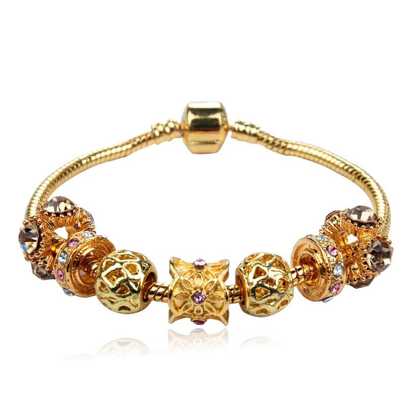 hot selling 2016 new heart charm bracelets bangles gold. Black Bedroom Furniture Sets. Home Design Ideas