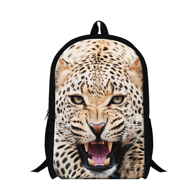 2017 animal print children school backpack leopard lion 3D pattern cool bookbags dayl back pack,school bag for teenagers boys