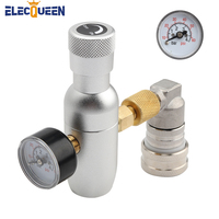 Mini CO2 Charger Stainless Steel Gas ball lock fitting Portable Beer Keg CO2 Regulator,3/8 thread co2 thread Suitable fo picnic