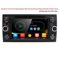 Two Din 7 Inch In Dash Car DVD Player For Ford Mondeo Focus Transit C MAX