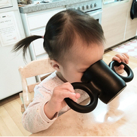 300ml 3D Children Big Ears Mug Children S Milk Cup Environmentally Baby Drop Resistance Drinking Cups