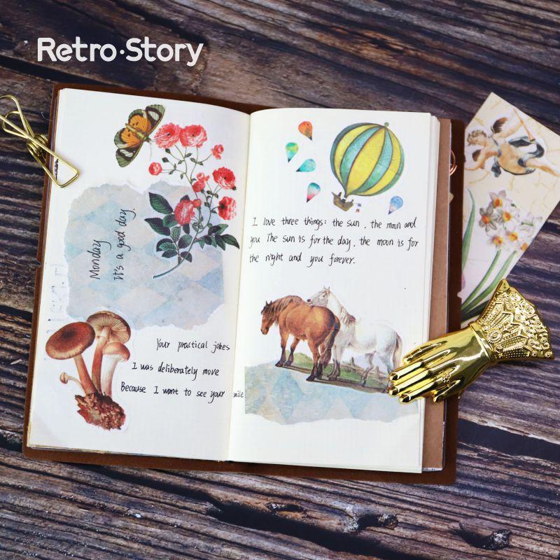 South Korea Style Stationery Wholesale Vintage Decorative lifelog Sticker