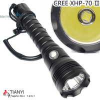 XHP 70 II Flashlight Diving Torch CREE XHP70 II Super Bright Scuba Hunting Lamp with Stepless Dimming with Package hig torch