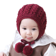 d64bff2ae56 Unisex Beanies Child Thick Cable Knit Bobbles Earflap Hats Baby Kid Winter  Warm Earmuffs Caps MZ5111