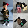 Suéteres de los niños Muchachas de Los Bebés blusas Suéter de Cuello Alto suéter de punto Unisex de la manera caliente gruesa ropa de abrigo Ropa de Los Niños