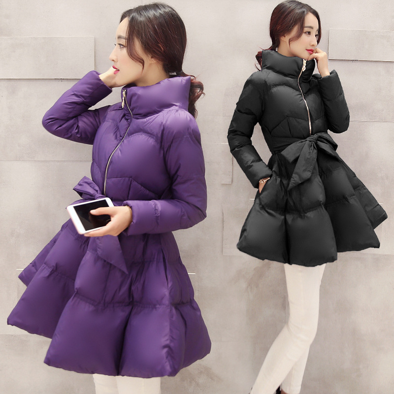 ФОТО 2016 Zipper Limited New Ukraine Winter Coat Women Long Coats Tie Female Cloak Cotton Ladies & Parkas Womens Jackets Wholesale