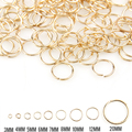 New Rose Gold Mixed Color 3/4/5/6/7/8/10/12/20mm Tone Metal Open Jump Rings Necklace Close Tool Ring DIY Jewelry Making