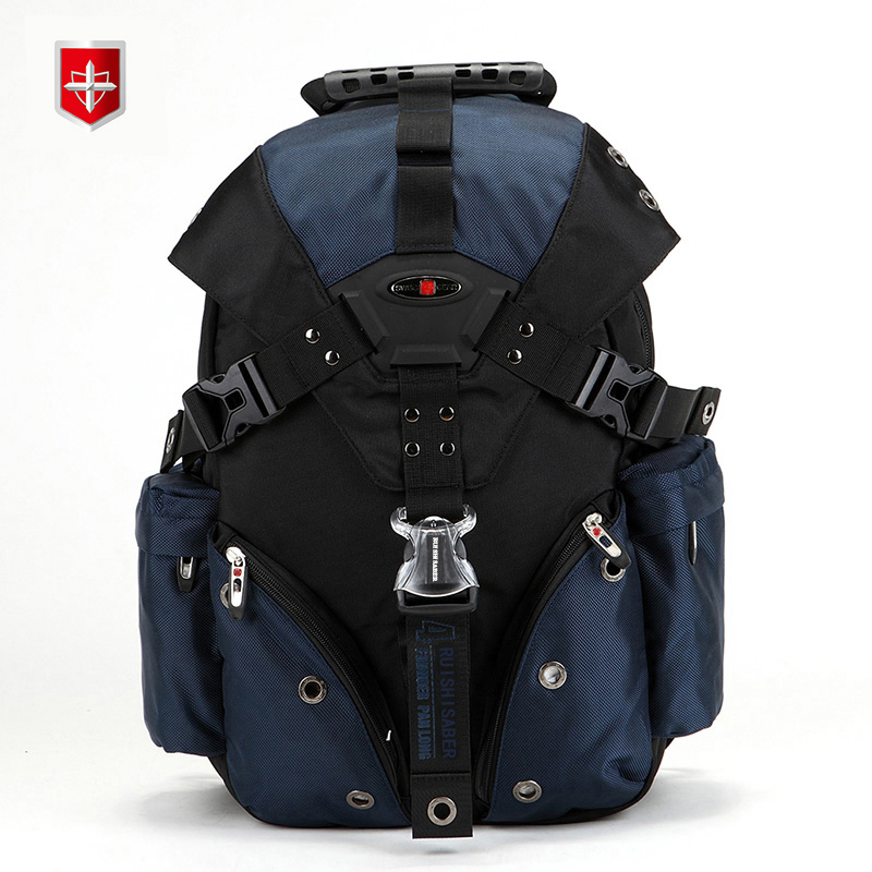 2017 Swiss Waterproof Travel Bags Laptop Backpack 15 6 Multifunctional Schoolbag Waterproof Ocford fabric Men s