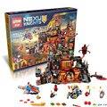 Lepin 14019 nexoe caballeros volcán lair castillo kits de edificio modelo compatible con lego ciudad bloques 3d juguetes educativos