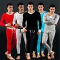 HOT SALE new brand thermal underwear men's long johns Autumn winter v-neck  warm men underwear sets 5 colors