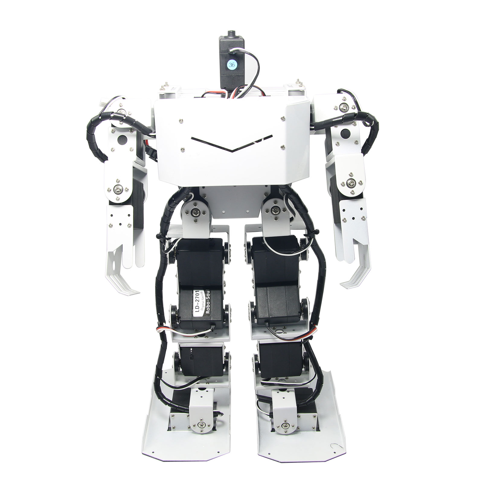 Assembled Aluminum 17DOF Robo-Soul H3.0 Biped Robotics Humanoid Robot with LD-1501 Servos + 24CH Controller new 17 degrees of freedom humanoid biped robot teaching and research biped robot platform model no electronic control system