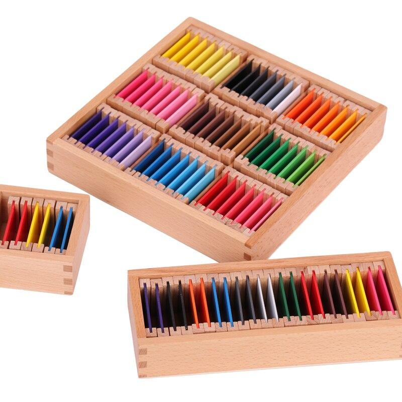 Montessori Sensorial Materials Montessori Color Tablets ...