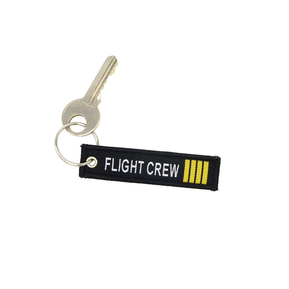 100PCS FILGHT CREW Keychain for Cars Motorcycle Tag Luggage Label Trendy aviation gift 7.7*2CM Duplex