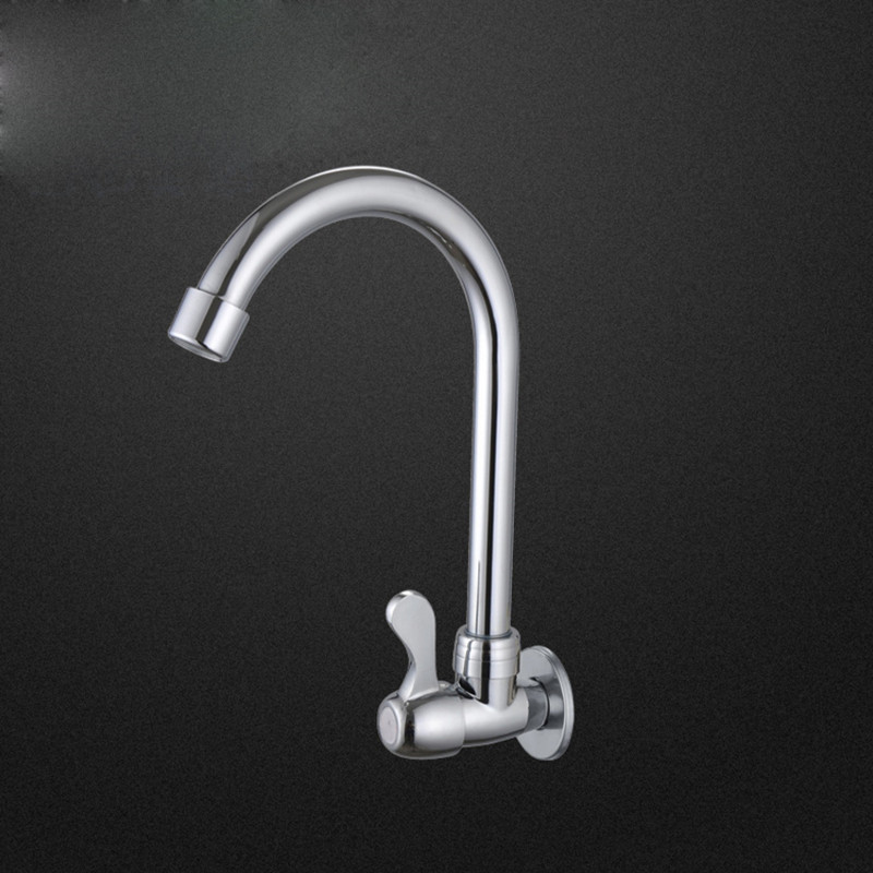 Free shipping single handle inwall mounted kitchen sink faucet with polished surface single cold kitchen sink