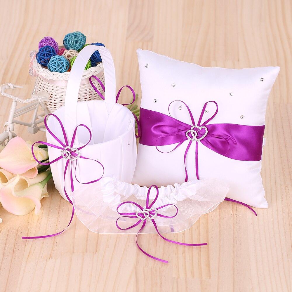 5pcs/set Wedding Decoration Accessories Double Heart Satin Flower ...
