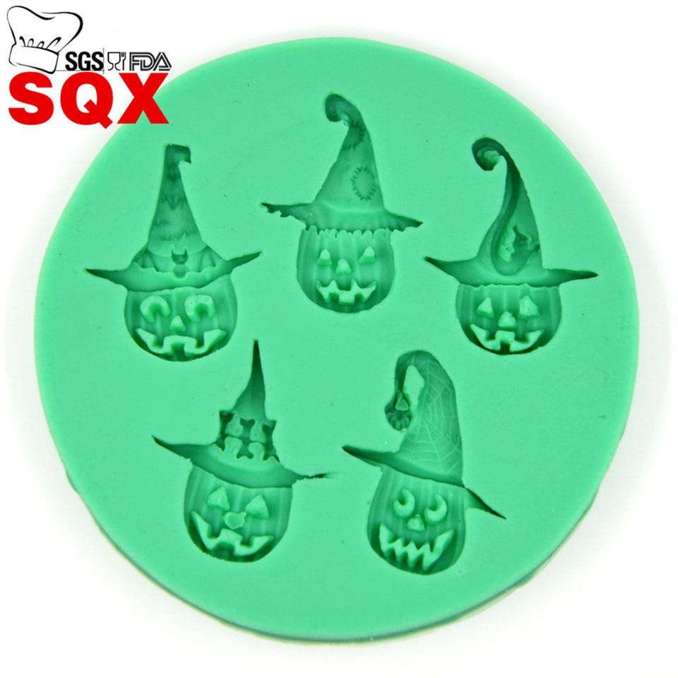 ᗔ5 Halloween Citrouille Imp Fondant Silicone Moule De Decoration De