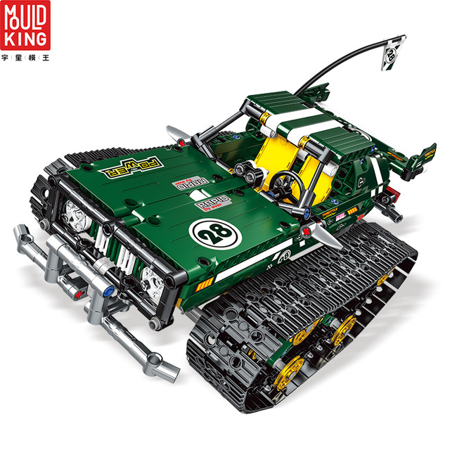 Mould king 13026 crawler car rc tracked racer remote control building blocks technic car 20011 toys lepin™ land