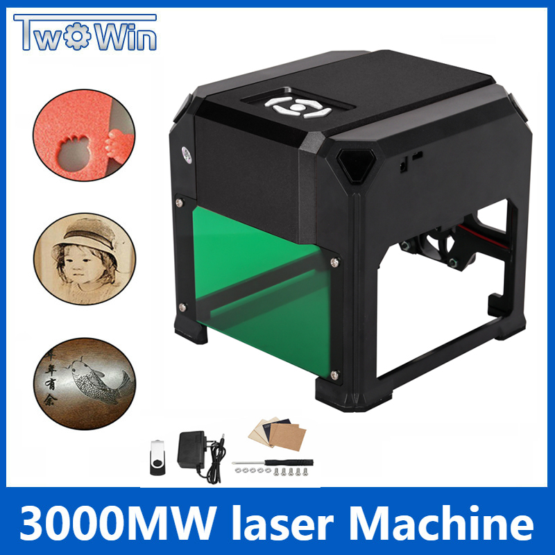 3000mw Automatic K5 Type High Speed Laser Engraving Machine USB DIY Carving Handicraft Wood Engraver