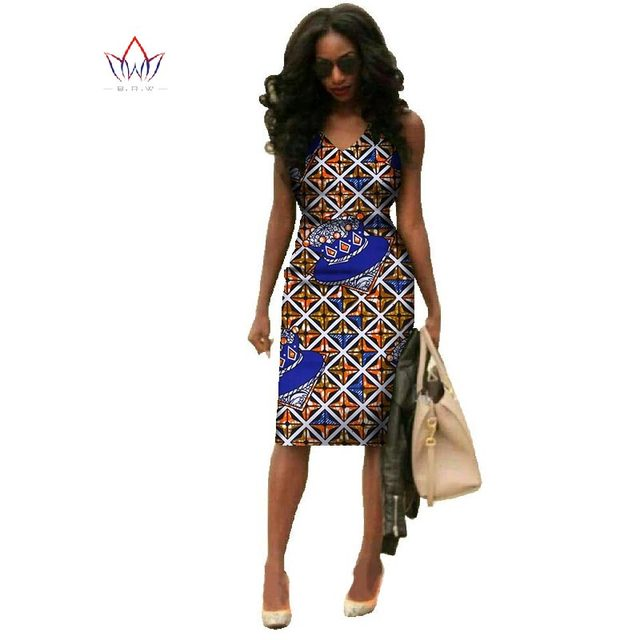 Vestidos 2018 African Dresses For Women Dashiki Plus Size Fashion African Wax Print Dresses Bazin Riche Africa Dresses WY237 3