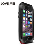 LOVE MEI Aluminum Metal Case For iPhone 6s Plus Armor Shockproof Life Waterproof Cover For iPhone 6s Capa Phone Cover Case