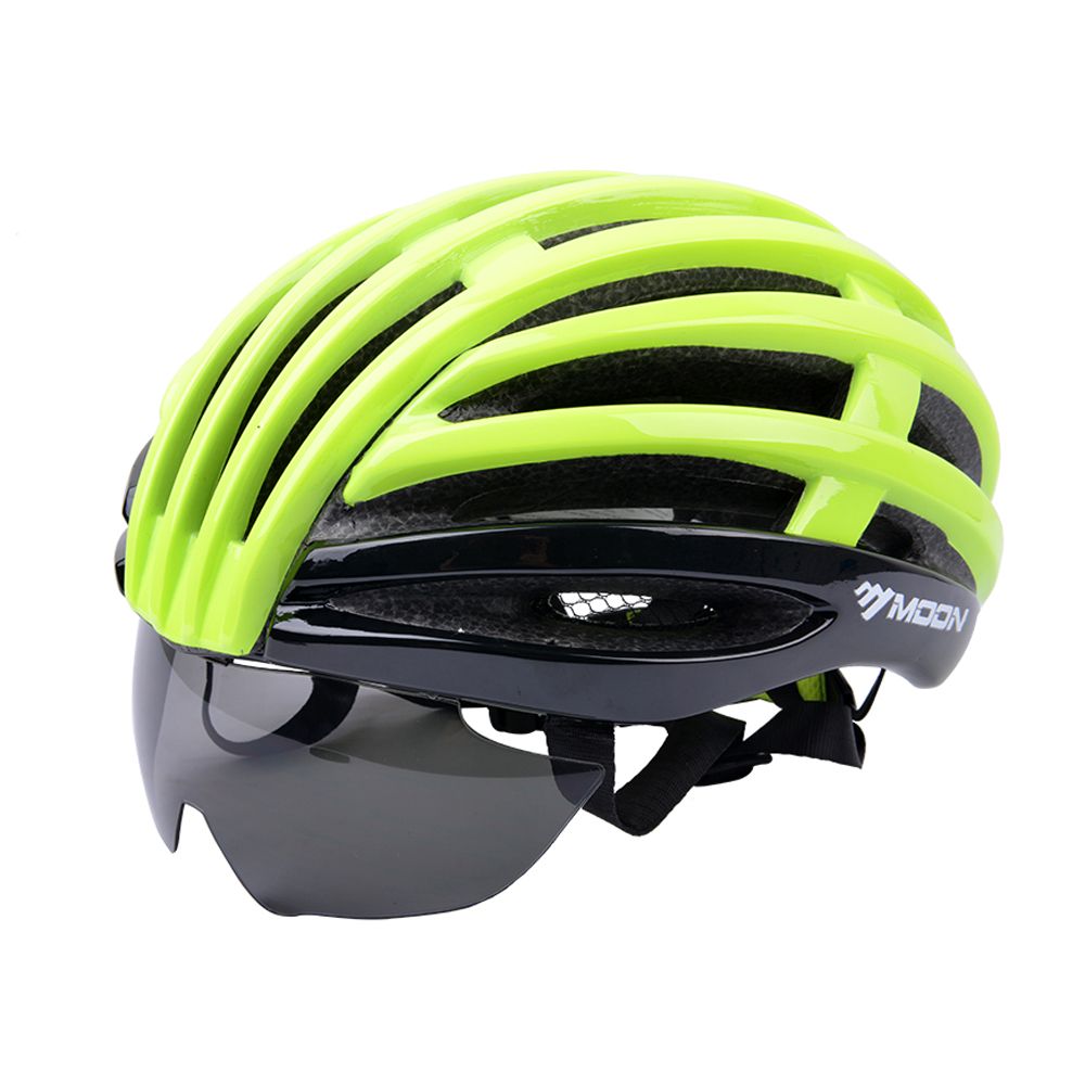2018 MOON  bicycle helmet with visor bike Integral forming PC moon flac jeans