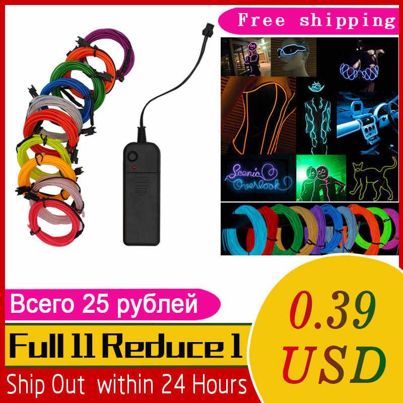 0.4 USD tylko 1 M/2 M/3 M/5 M/8 M/10 M neon Light imprezowa ozdoba do tańca światła Neon LED lampa elastyczne przewód świecący rury wodoodporna taśma LED