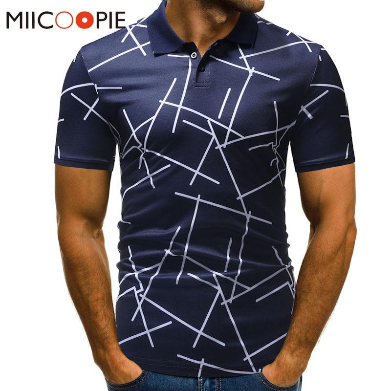2018 New Summer Polo Hommes Diagonal Stripes Printing Short Sleeve Casual Camisas Polos Mens Ralphmen Brands Plus Size M-3XL