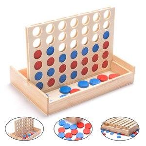 Новая линейка 4 Классическая семейная доска четыре в ряд деревянная игра в бинго игрушка забавная развивающая игрушка для детей Подарки для...