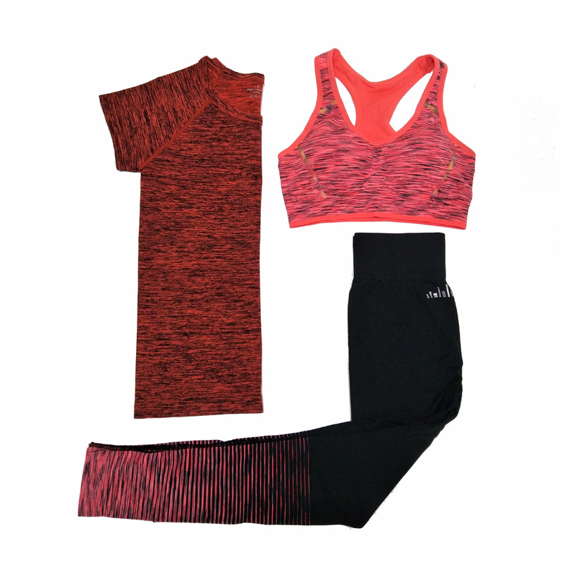 Are you ready for next workout? If you are looking for one lifetime gym clothing buying you are on right place. We represent you - 3 in 1 - T-Shirt, Leggings And Sports Bra For Fitness Workout. This is what you only need for your workout.