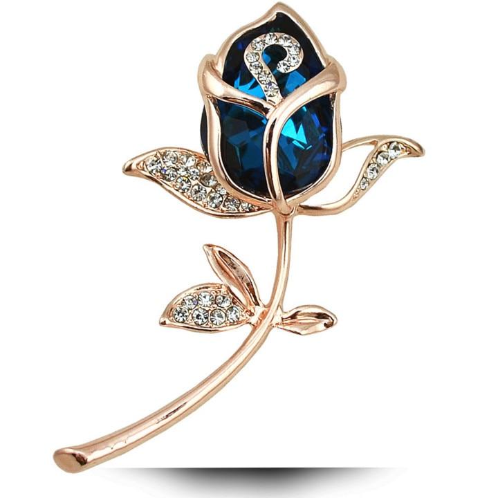 Broške CINDY XIANG Crystal Rose za ženske Elegantne broške in - Modni nakit - Fotografija 3