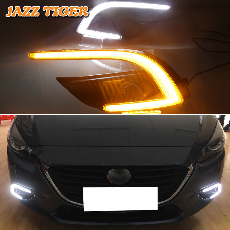 2pcs Turn Signal Light DRL Motorcycle Red+Yellow LED Daytime Running Lamp New