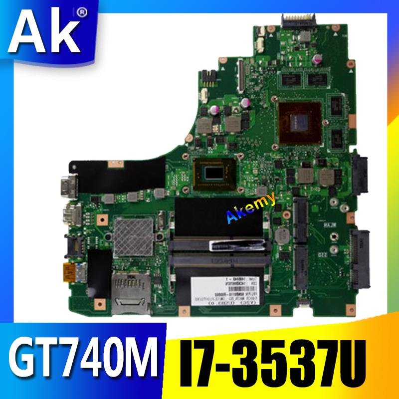 AK K46CB/K46CM Laptop Motherboard For ASUS K46CB K46CM K46C K46 Test Original Mainboard I7-3537U GT740M