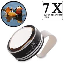 New Arrival 7x Clip-on Telephoto Camera Lens For Mobile Phone iPhone 4 4S 5 5S 6 Plus Samsung HTC Nokia DC584