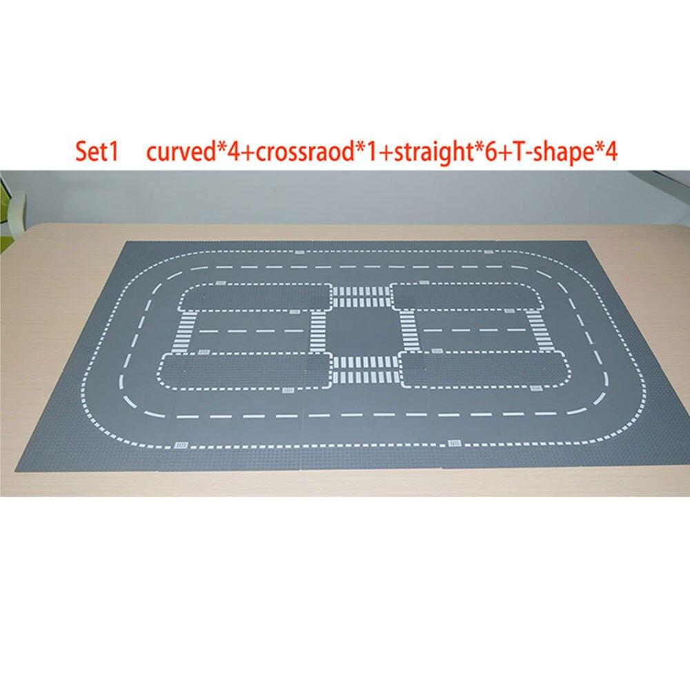 City Road Street Baseplate Set Building Block Plate Compatible LegoINGlys City Bricks
